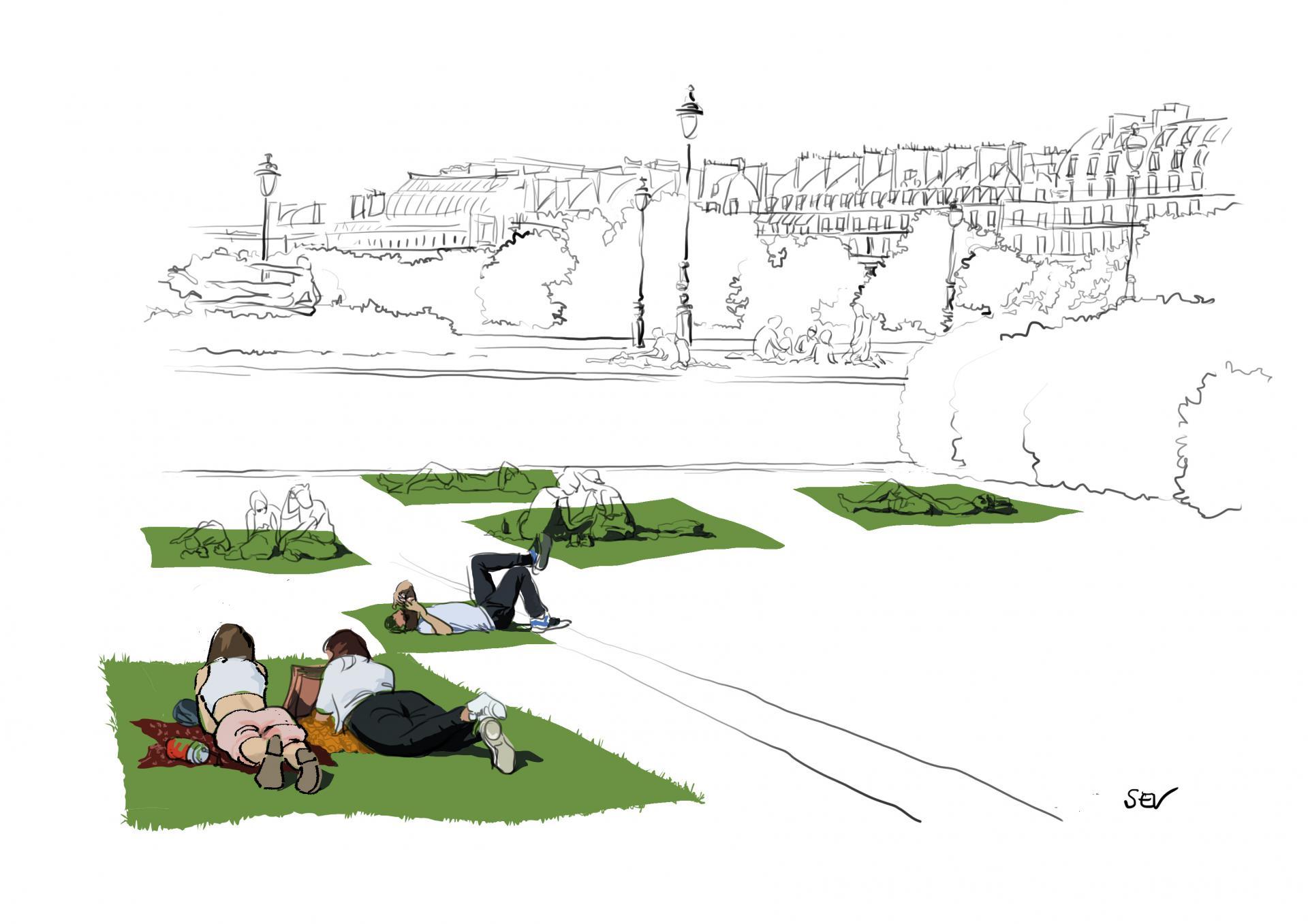 Mai aux Tuileries