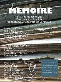 Affiche expo memoire