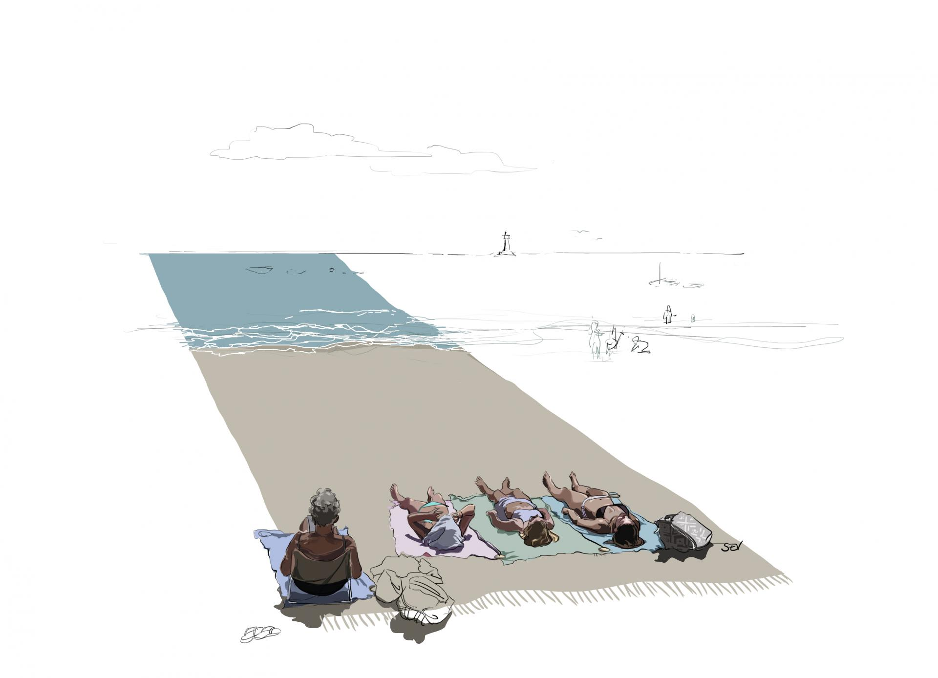 La plage pour soi